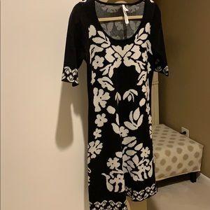 Black & White Pattern Dress